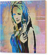 Miranda Lambert Collection Wood Print