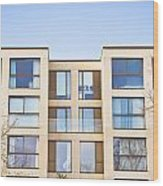 Modern Apartments Wood Print