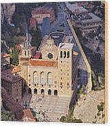 Monastery In Montserrat Wood Print