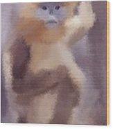 Monkey Business Wood Print by Karen Larter