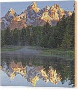 Morning Reflection Wood Print