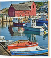 Motif Number One Rockport Lobster Shack Maritime Wood Print