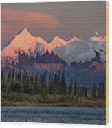 Mount Denali, Previously Known Wood Print