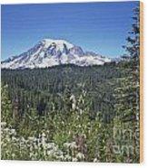 Mount Ranier Wood Print