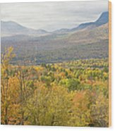 Mountains In Fall Mount Blue State Park Weld Maine Wood Print