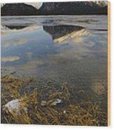Mt. Rundle And Vermillion Lake Wood Print