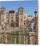 Mudejar Pavilion In Seville Wood Print