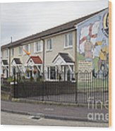 Mural In Shankill, Belfast, Ireland Wood Print