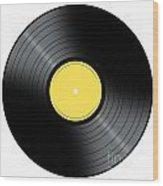 Music Record Wood Print