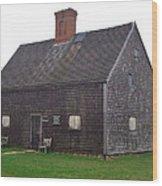 Nantucket's Oldest House Wood Print