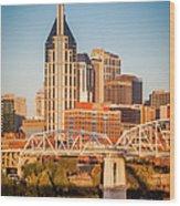 Nashville Morning Wood Print