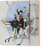 Nashville Predators V Anaheim Ducks - Wood Print