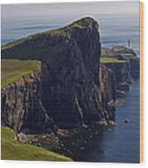 Neist Point Lighthouse Wood Print