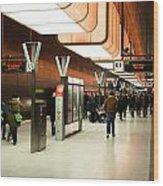 New Hafencity Station In Hamburg Wood Print