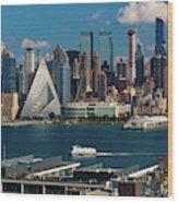 New York City Skyline As Seen Wood Print