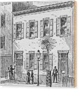 New York: Dispensary, 1868 Wood Print
