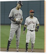 New York Yankees v Houston Astros Wood Print