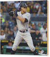 New York Yankees v Pittsburgh Pirates Wood Print