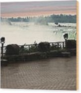 Niagara Falls Sunrise Wood Print