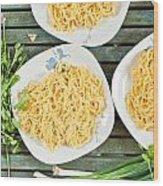Noodles Wood Print by Tom Gowanlock