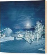 North Carolina Sugar Mountain Ski Resort Winter 2014 Wood Print