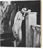 Nude Posing, C1850 Wood Print