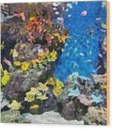 Ocean Aquarium In Shanghai Wood Print