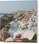 Oia Village Santorini Greece Wood Print