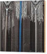 3 Old Maids Feeling Blue Wood Print