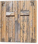 Old Shutters Wood Print