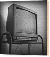 Old Television Wood Print