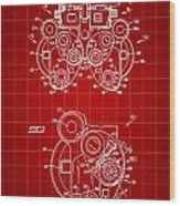 Optical Refractor Patent 1985 - Red Wood Print
