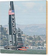 Oracle Team Usa Wood Print