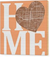 Orlando Street Map Home Heart - Orlando Florida Road Map In A He Wood Print