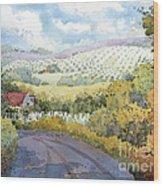 Out Santa Rosa Creek Road Wood Print by Joyce Hicks