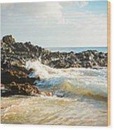 Paako Beach Makena Maui Hawaii Wood Print