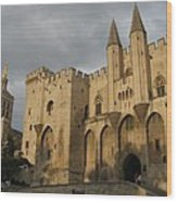 Palace Of The Pope - Avignon Wood Print