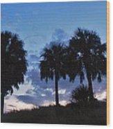 3 Palms 9/19 Wood Print