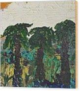 3 Palms Wood Print