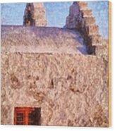 Panagia Paraportiani Church In Mykonos Island Wood Print