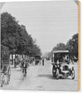 Paris Champs Elysees Wood Print