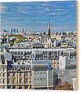 Paris Panorama France Wood Print
