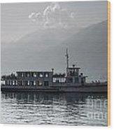 Passenger Ship On An Alpine Lake Wood Print
