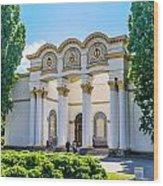 Pavilion In Kiev's National Complex  Wood Print