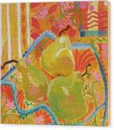 3 Pears Wood Print