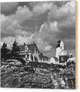 Pemaquid Point Lighthouse Wood Print by Skip Willits