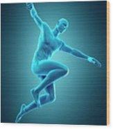 Person Jumping Wood Print