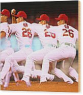 Philadelphia Phillies V St Louis Wood Print