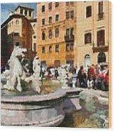 Piazza Navona In Rome Wood Print