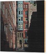 Pioneer Square Alleyway Wood Print